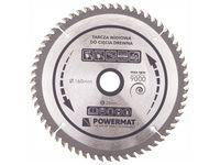 Tarcza widiowa do drewna Powermat (160 mm, 20 mm, 60 zęby)
