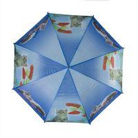 Parasolka dziecięca, automatyczna z gwizdkiem, niebieska w kotki