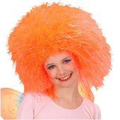 peruka WRÓŻKA włosy afro POMARAŃCZOWA neon WRÓŻKA