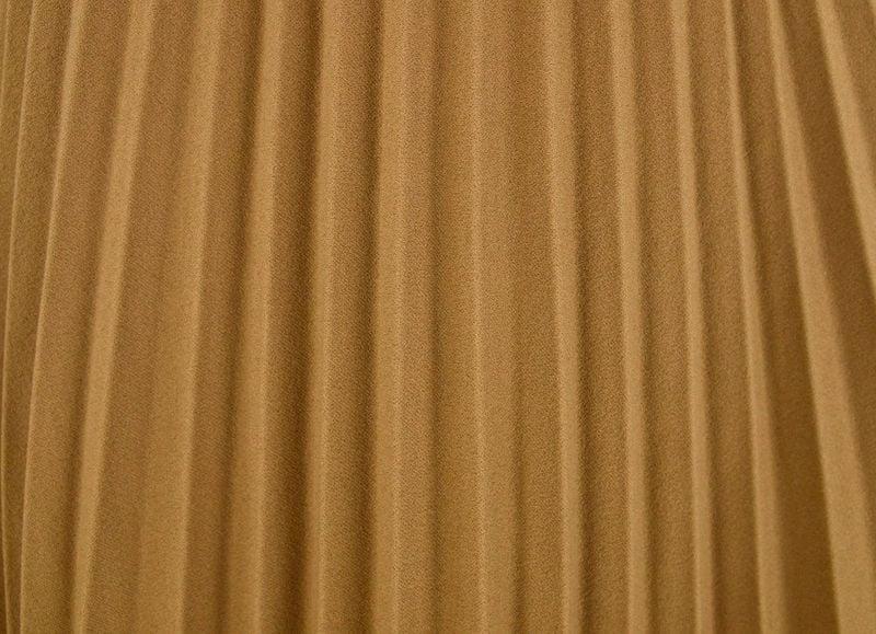 77531937 Włoska Spódnica z Plisami z Gumką w Pasie - Beżowa Rozmiar - One size