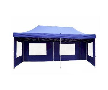 Pawilon ogrodowy 3x6 m, niebieski namiot handlowy ze ściankami