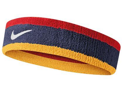 Opaska Frotka na głowę czoło NIKE Headbeand Red / Navy / Gold