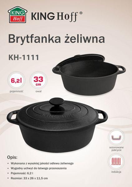 BRYTFANNA ŻELIWNA 6.2L 33cm KINGHOFF [KH-1111] zdjęcie 6