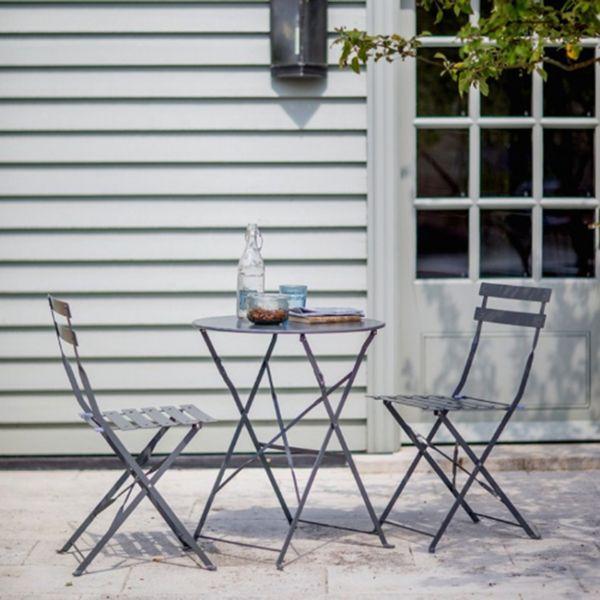 Meble Ogrodowe Balkonowe Solar Grey Zestaw Mebli Stół2 Krzesła Stal