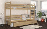 Łóżko piętrowe JACEK 190x80 szuflady + materace