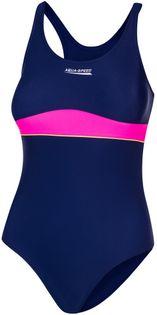 Kostium pływacki EMILY roz. 152-164 Rozmiar - Stroje dziecięce - 152, Kolor - Stroje damskie - Emily - 47 - granatowy / różowy