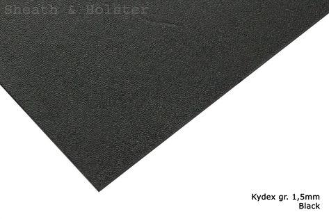 Kydex Black - 200x300mm gr. 1,5mm