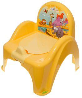 TEGA PO-041-124 Nocnik krzesełko z pozytywką SAFARI żółty