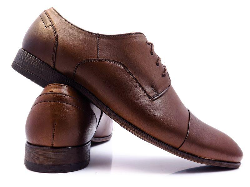 4ab42811306fe Brązowe półmatowe męskie buty wizytowe T97 Rozmiar Obuwia - 41 zdjęcie 3