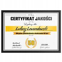 Śmieszny PREZENT na 50tkę, 50 urodziny, Certyfikat na Prezent