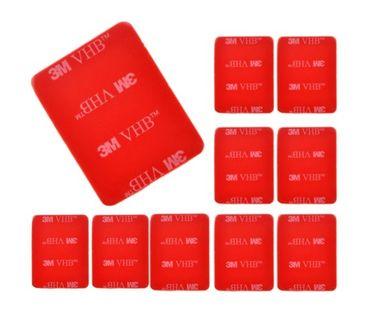 ZESTAW 10 PRZYLEPCÓW 3M DO MOCOWAŃ DO XIAOMI YI 1, 2 (4K, 4K+, Lite)