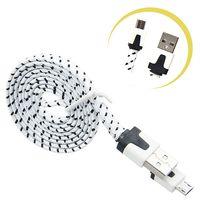 Kabel micro USB Ładowarka Nylon 1m Plecionka