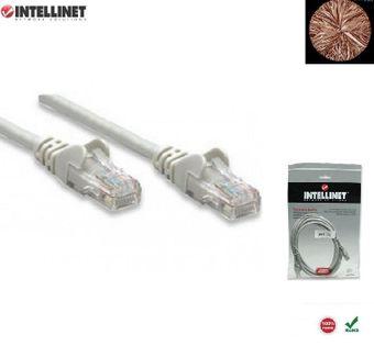 Patch Cord 100% miedź Intellinet Cat.6 UTP, 7,5m, szary ICOC U6-6U-075