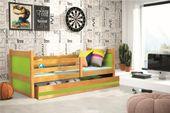 Łóżko RICO dla dzieci pojedyncze dla jednej osoby 190x80 + MATERAC zdjęcie 8