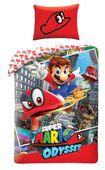 Pościel Dziecięca 140x200 Mario Bross Super Gra Odyssey Bawełniana 140