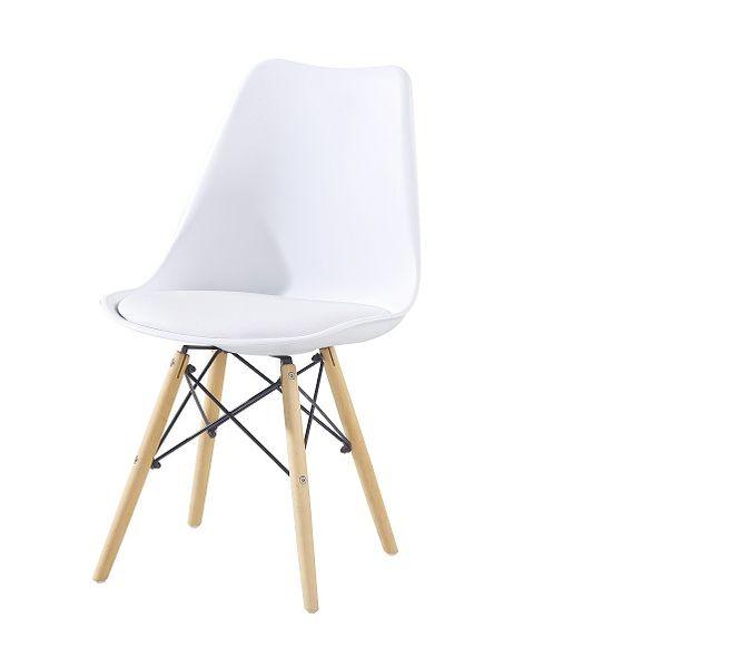 Krzesło Białe Kris Dsw Z Poduszkąkrzyżak Salonkuchniajadalnia