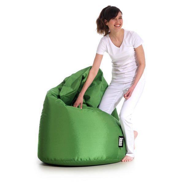 Ogromny Fotel Pufa z granulatem siedzisko ZIELONA sako worek pufka miękka GC32
