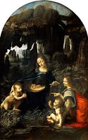 Reprodukcje obrazów Madonna w grocie I wersja - Leonardo da Vinci Rozmiar - 70x40