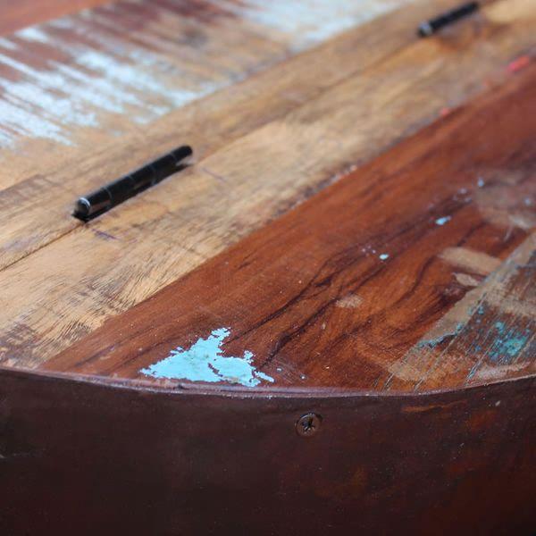 Dwa Stoliki Kawowe Na Kształt Misy Z Drewna Odzyskanego Arenapl