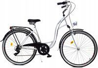 """Rower Dallas City 28"""" 7spd LUX - biały z czarnym"""