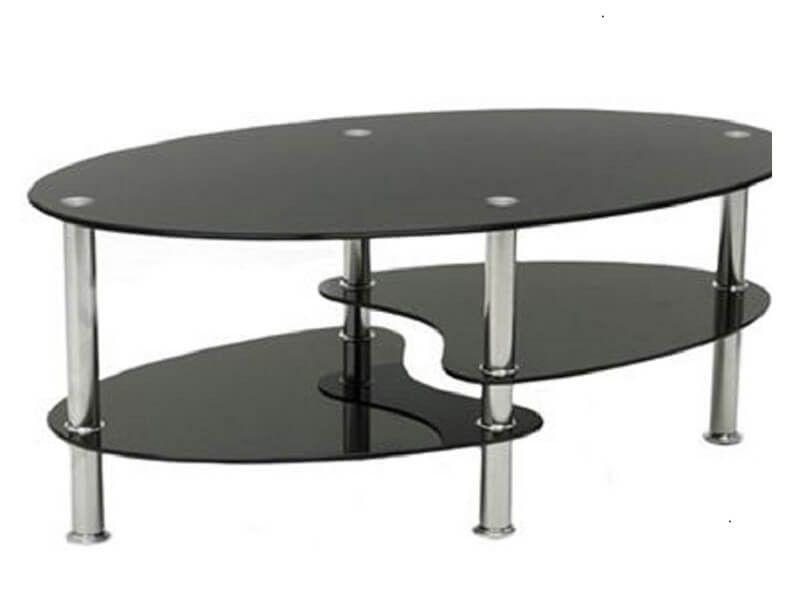 Stolik kawowy ława szklana stoliki szklane salon 110x60 blat górny 8mm zdjęcie 1