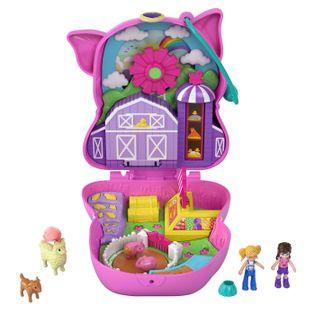 Polly Pocket Świnka Kompaktowy zestaw Farma GTN16