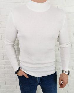 Biały sweter półgolf męski 3431 - XL