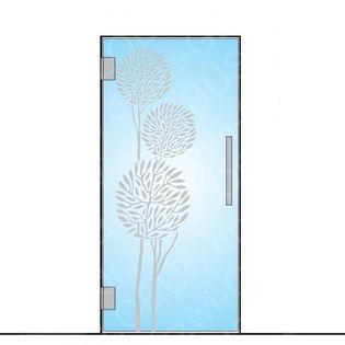 Drzwi szklane wahadłowe mocowane do ściany (wzór matowy) NA WYMIAR !