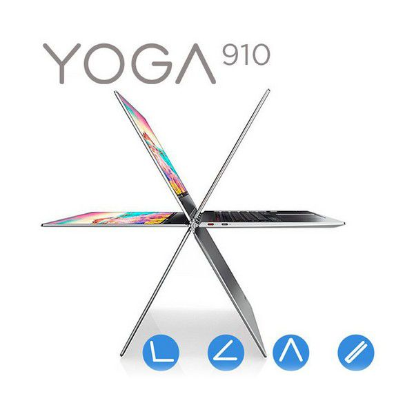 "Notebook Lenovo Yoga 910 13,9"" 360º i5-7200U 8 GB RAM 256 GB SSD Srebro zdjęcie 1"