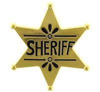 GWIAZDA SZERYFA metalowa złota odznaka kowboj
