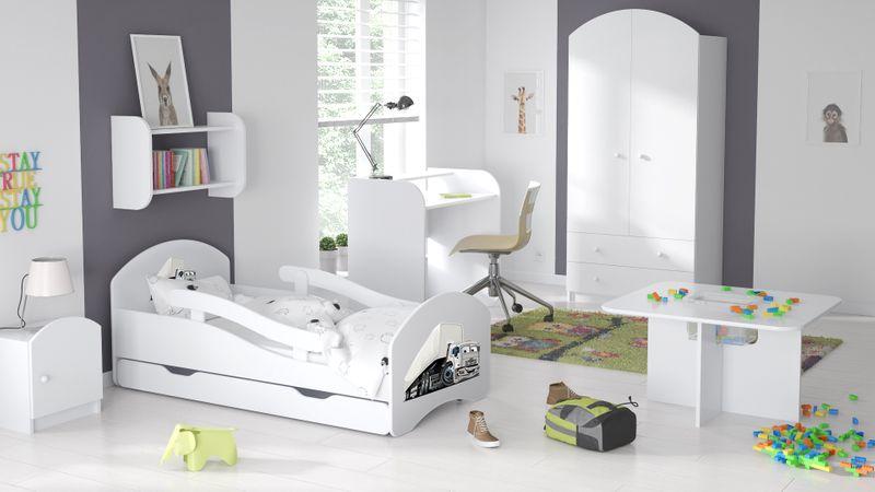 Łóżko dziecięce łóżeczko 140x70 białe szuflada materac dla dziecka zdjęcie 8