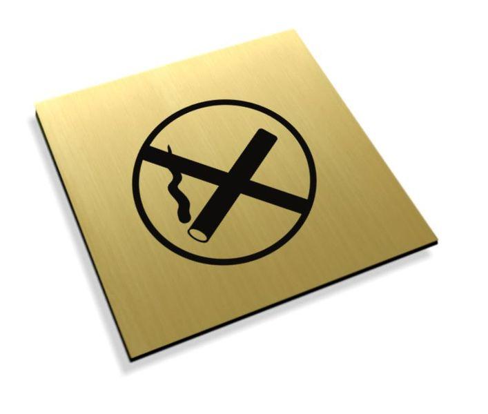 Tabliczki informacyjne na drzwi piktogram zakaz palenia grawer zdjęcie 1