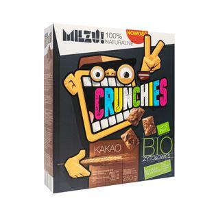 Milzu Płatki Crunchies żytnio - owsiane kakaowe - 250 g