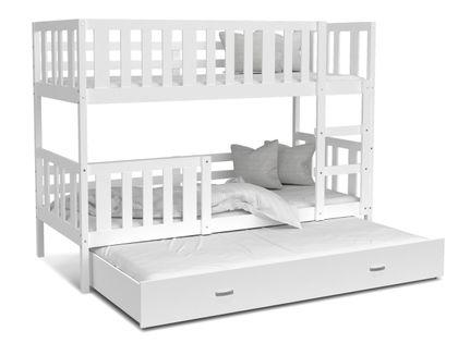 Łóżko piętrowe NEMO 3 osobowe 190x80