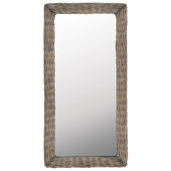 Lustro W Wiklinowej Ramie, Brązowe, 50 X 100 Cm zdjęcie 1