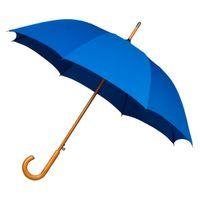 Automatyczna parasolka z drewnianą rączką, niebieska