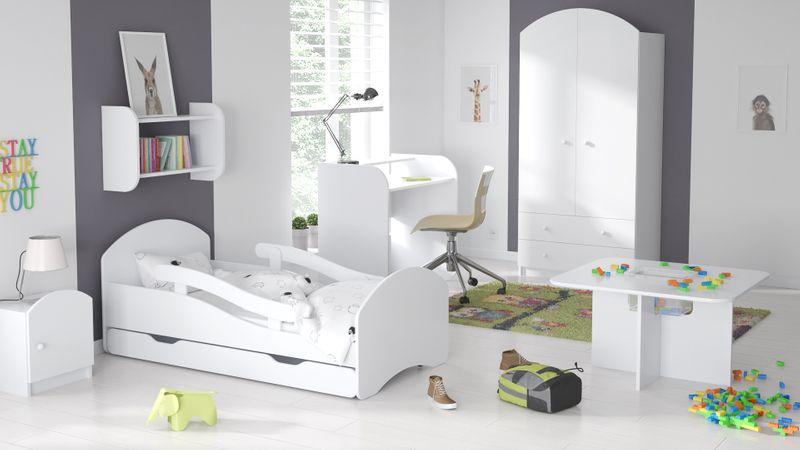 Łóżko dziecięce łóżeczko 140x70 białe szuflada materac dla dziecka zdjęcie 2