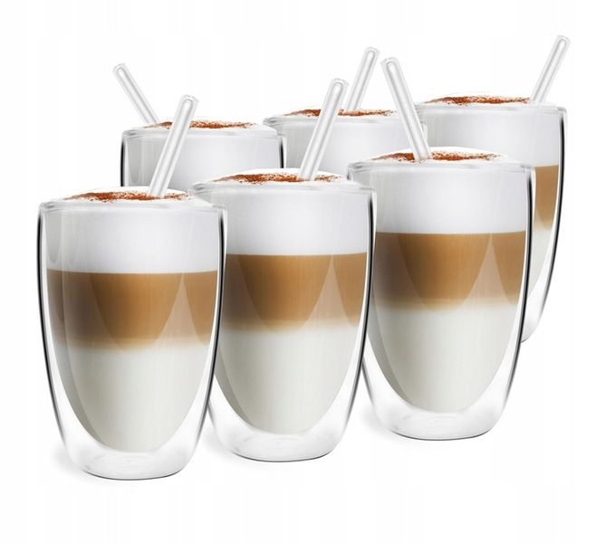 Szklanki Termiczne Podwójna Ścianka Kawa Herbata 350ml Vialli Design 6 zdjęcie 6