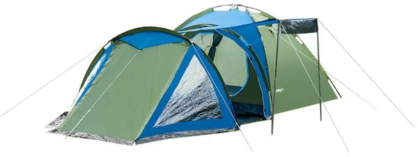 Rodzinny namiot 4-osobowy SOLITER nieb-zielony