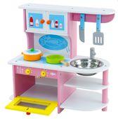 Drewniana Kuchnia Dla Dzieci Akcesoria Otwierany piekarnik Zlew U47