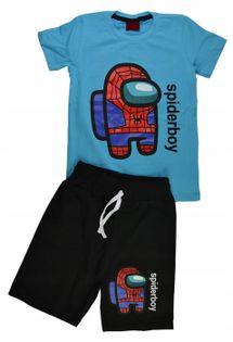 Komplet Spider Boy niebieski, bawełna roz.128