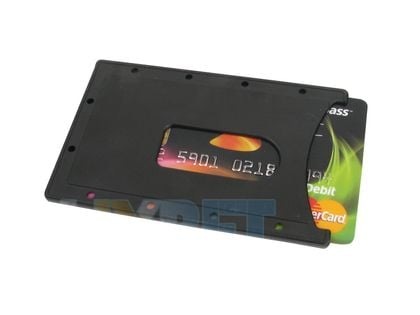 Czarne Etui Pokrowiec na kartę kredytową dowód FV