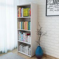 Regał na książki, 60 x 31 x 155 cm, biały
