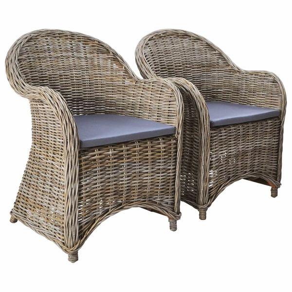 Krzesło Krzesła Fotele Ogrodowe Rattanowe 2 Sztuki