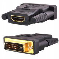 PRZEJŚCIÓWKA HDMI na DVI-D 24+1 Dual Link Gold Pin