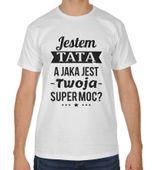 Koszulka męska na dzień ojca Jestem tatą a jaka jest Twoja super moc?