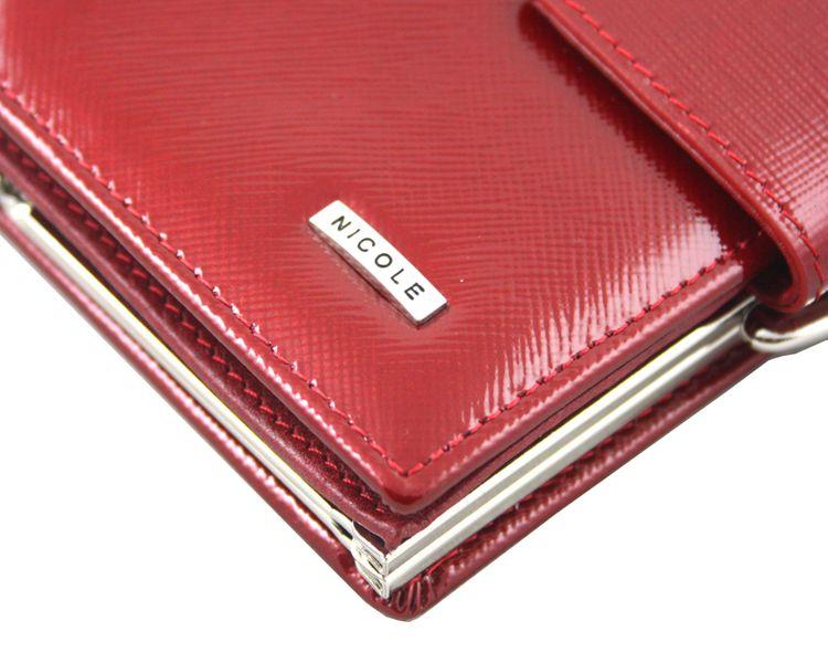 8327d4f376183 Czerwony portfel Nicole - skóra lakierowana zdjęcie 10