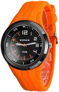 Xonix Sportowy zegarek, uniwersalny model, druga strefa czasowa, analogowy, podświetlenie, WR 100M