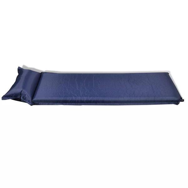 Dmuchany materac, niebieski (10 x 66 x 200 cm). zdjęcie 3