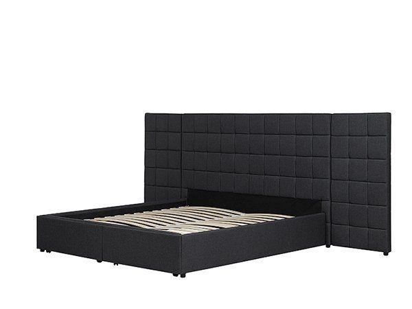 łóżko Rama łóżka Tapicerowane Stelaż Wezgłowie Nowoczesne 160x200cm Ekskluzywne